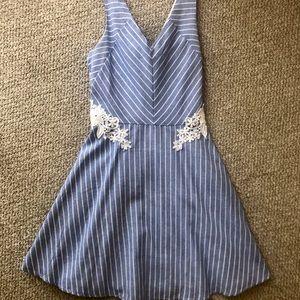 Francesca's blue & white pinstripe sundress